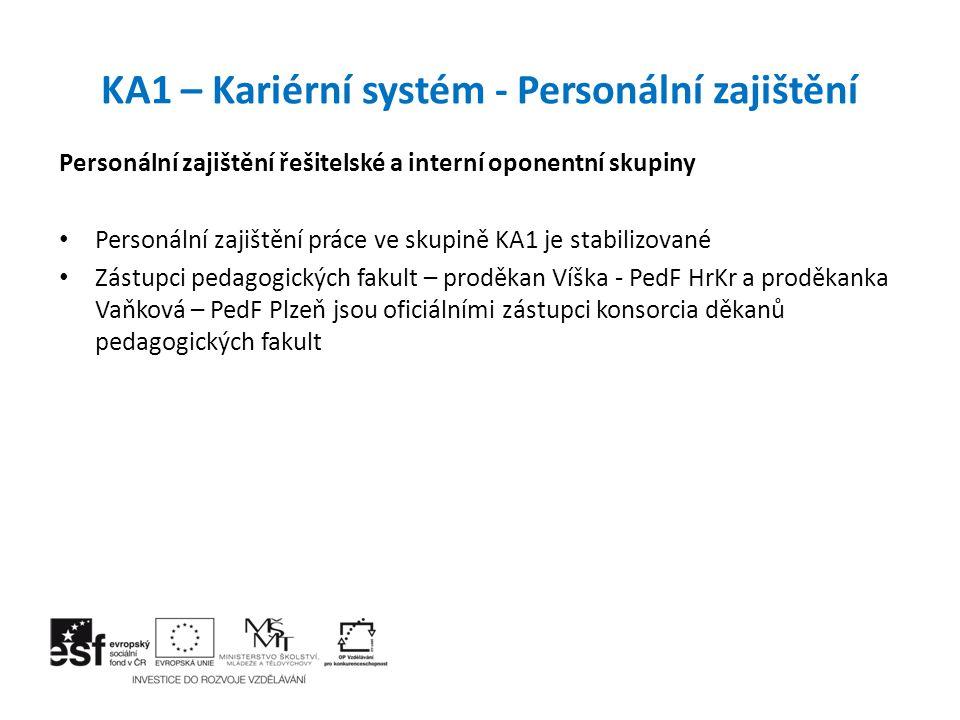 KA1 – Kariérní systém - Personální zajištění