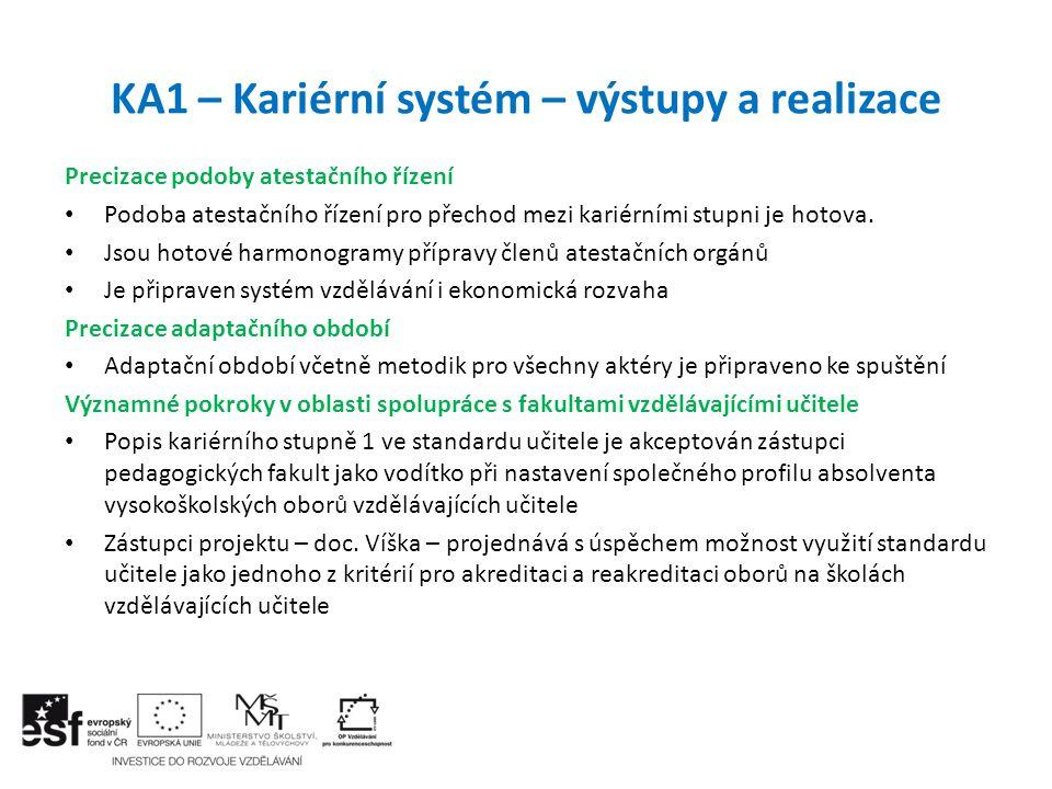 KA1 – Kariérní systém – výstupy a realizace