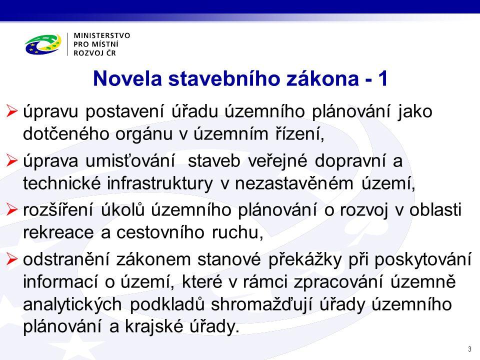 Novela stavebního zákona - 1