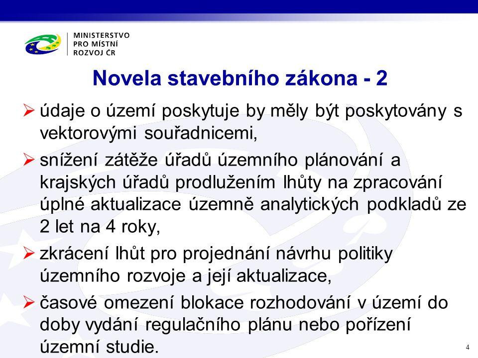 Novela stavebního zákona - 2