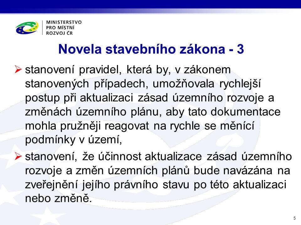 Novela stavebního zákona - 3