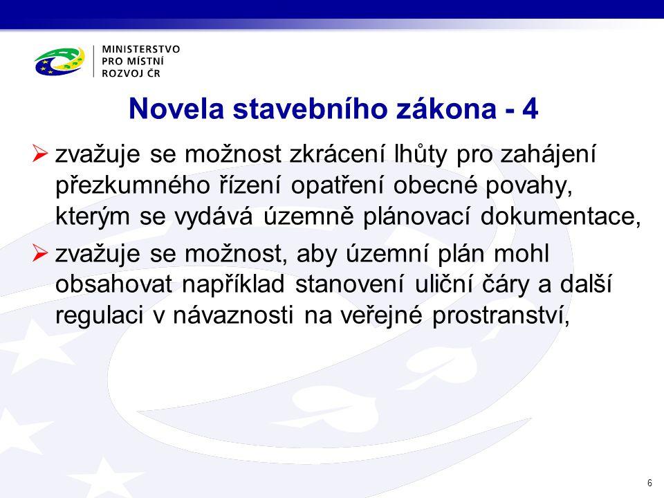Novela stavebního zákona - 4