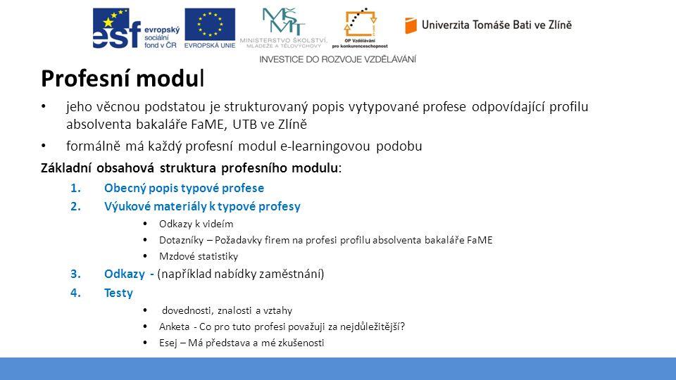 Profesní modul Téma 3 – Poptávka na trhu výrobků a služeb