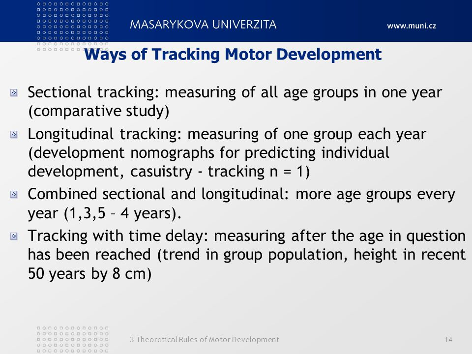 Ways of Tracking Motor Development