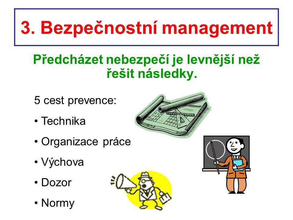 3. Bezpečnostní management