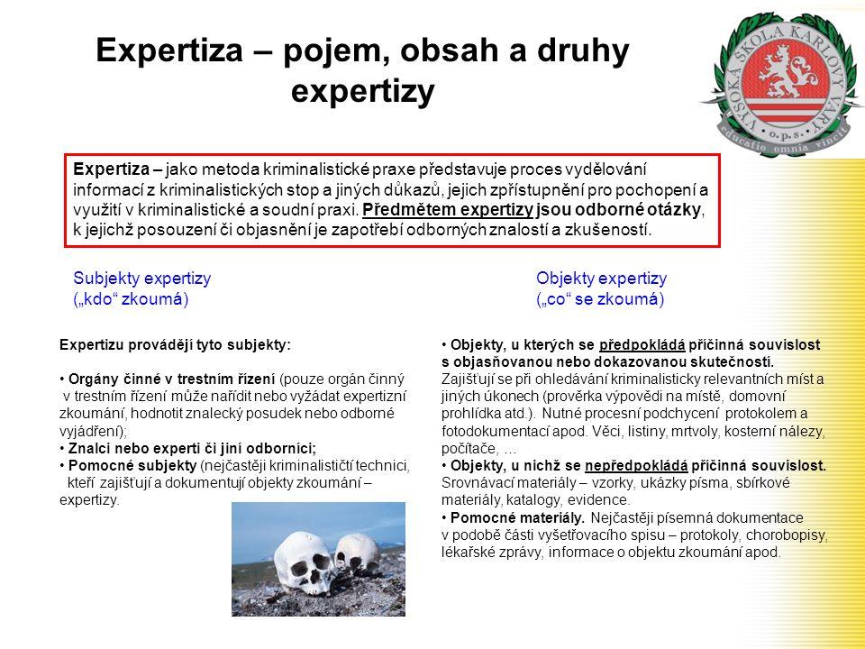 Expertiza – pojem, obsah a druhy expertizy