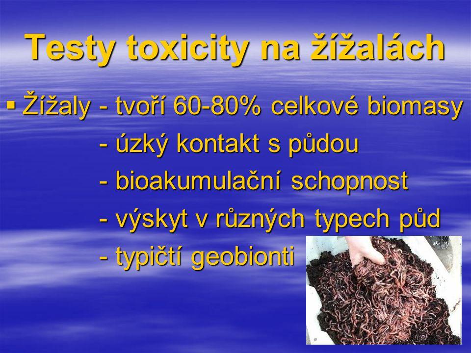 Testy toxicity na žížalách