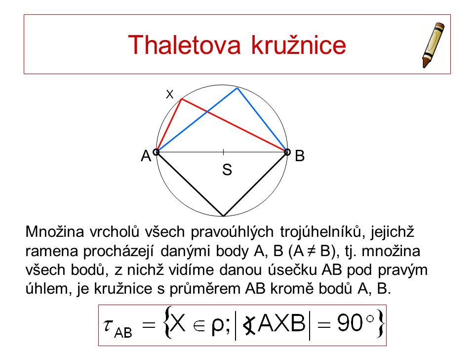 Thaletova kružnice S A B