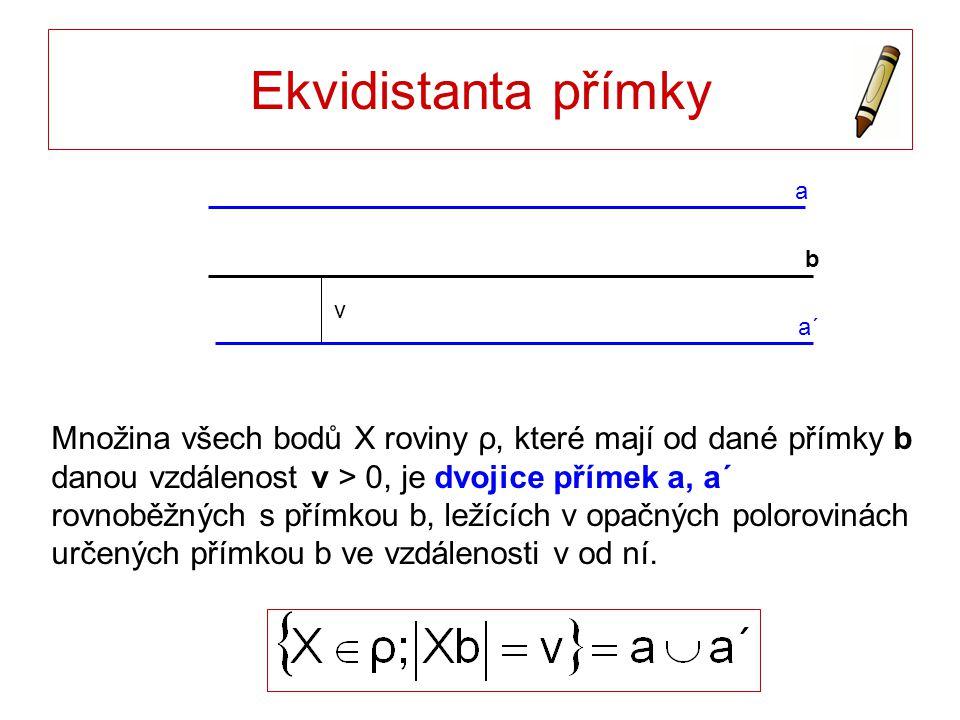 Ekvidistanta přímky a. b. a´ v.