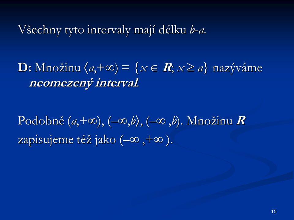 Všechny tyto intervaly mají délku b-a.