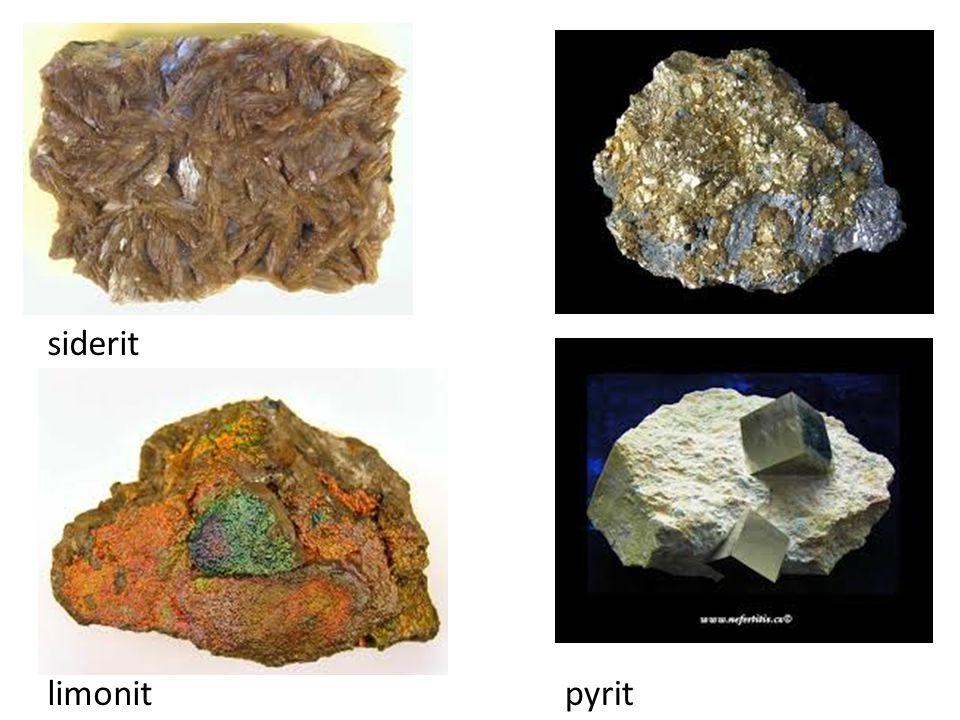 siderit limonit pyrit