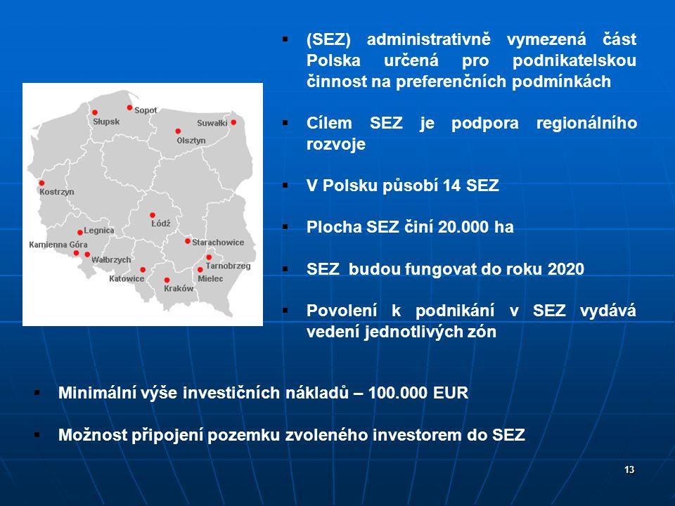 Cílem SEZ je podpora regionálního rozvoje