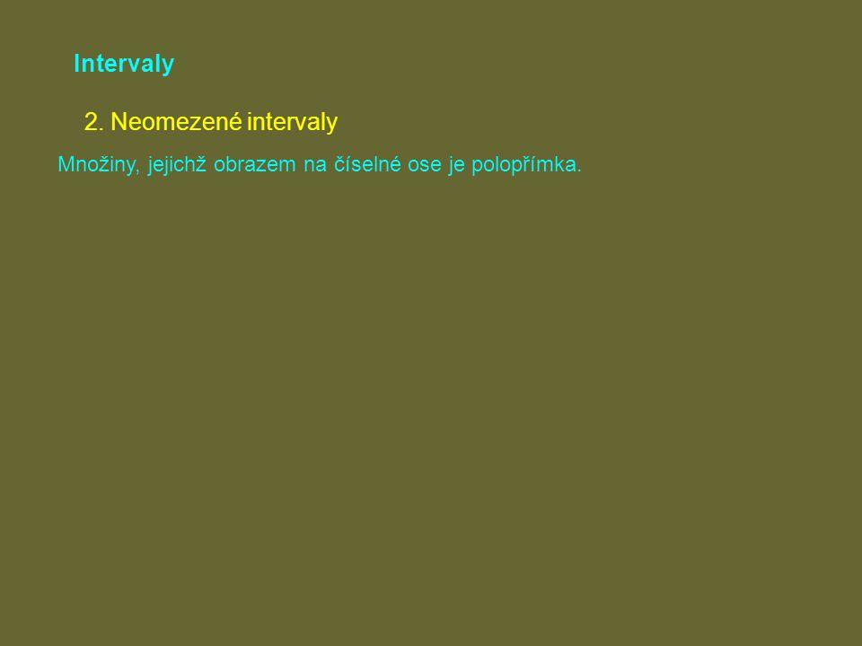 Intervaly 2. Neomezené intervaly
