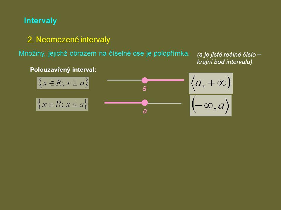 Intervaly 2. Neomezené intervaly a a