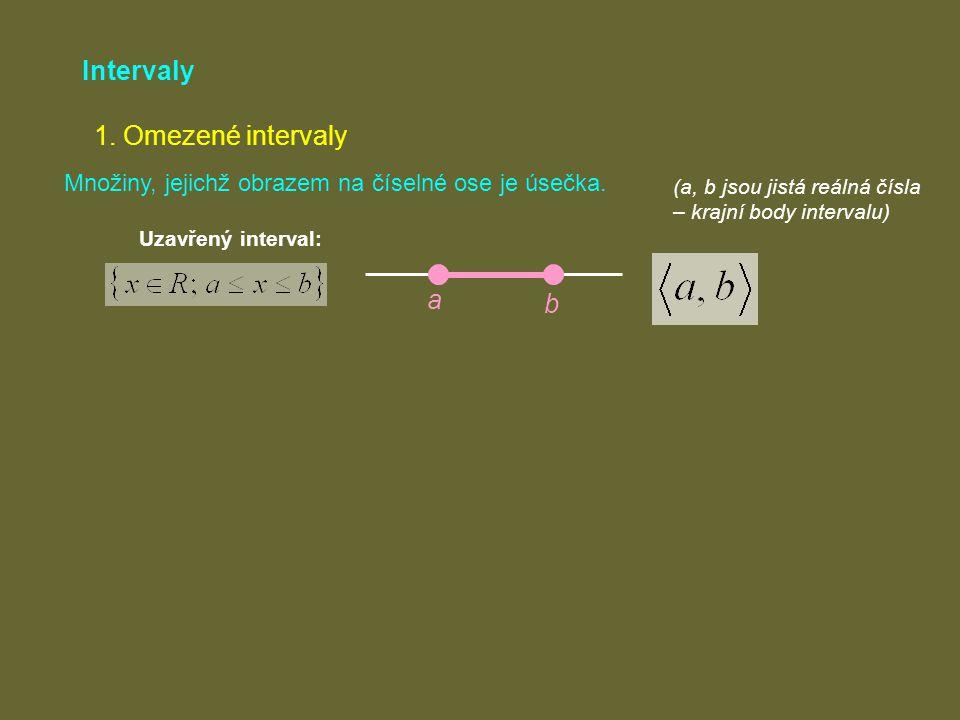 Intervaly 1. Omezené intervaly a b