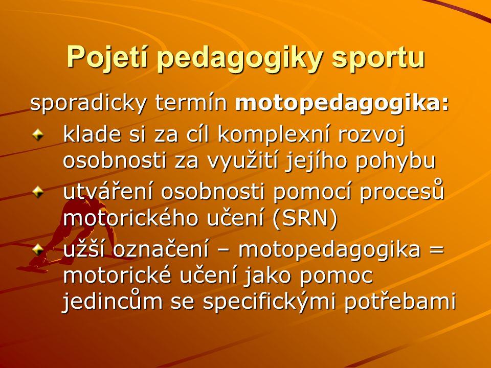 Pojetí pedagogiky sportu