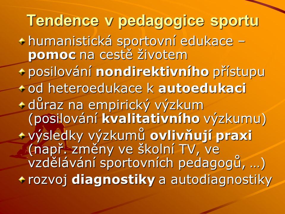 Tendence v pedagogice sportu