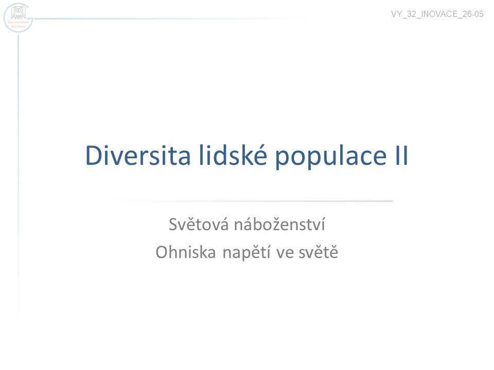 Diversita lidské populace II