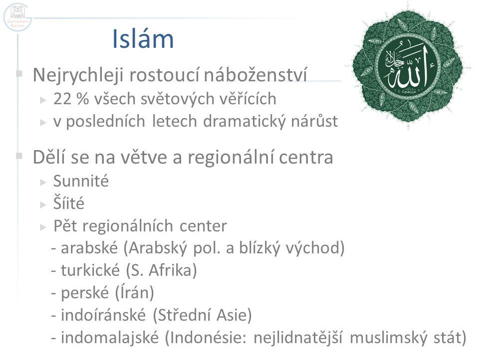 Islám Nejrychleji rostoucí náboženství