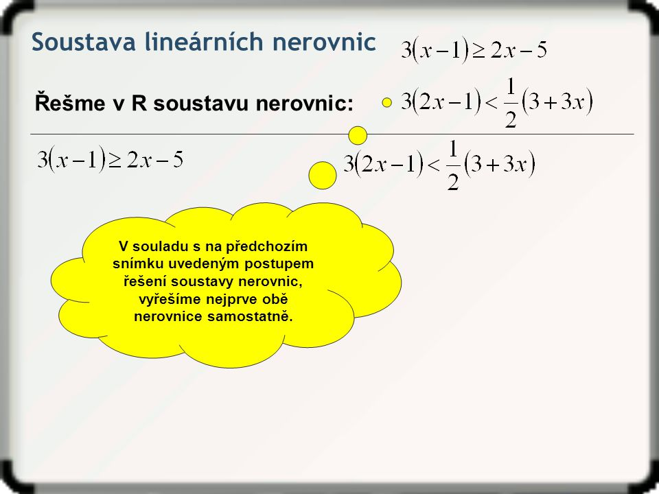 Soustava lineárních nerovnic