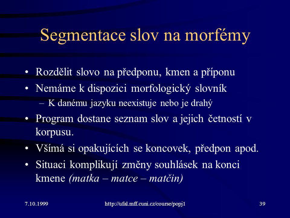 Segmentace slov na morfémy