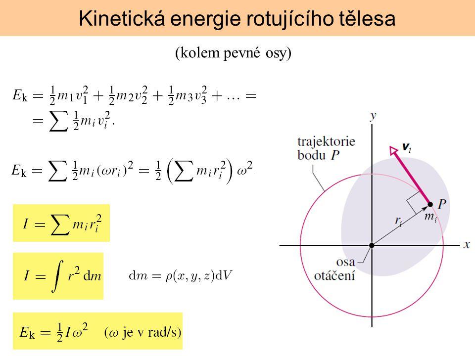 Kinetická energie rotujícího tělesa