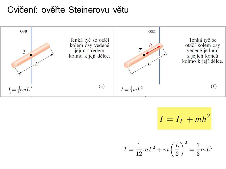 Cvičení: ověřte Steinerovu větu
