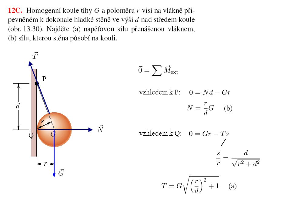 P vzhledem k P: (b) vzhledem k Q: Q (a)