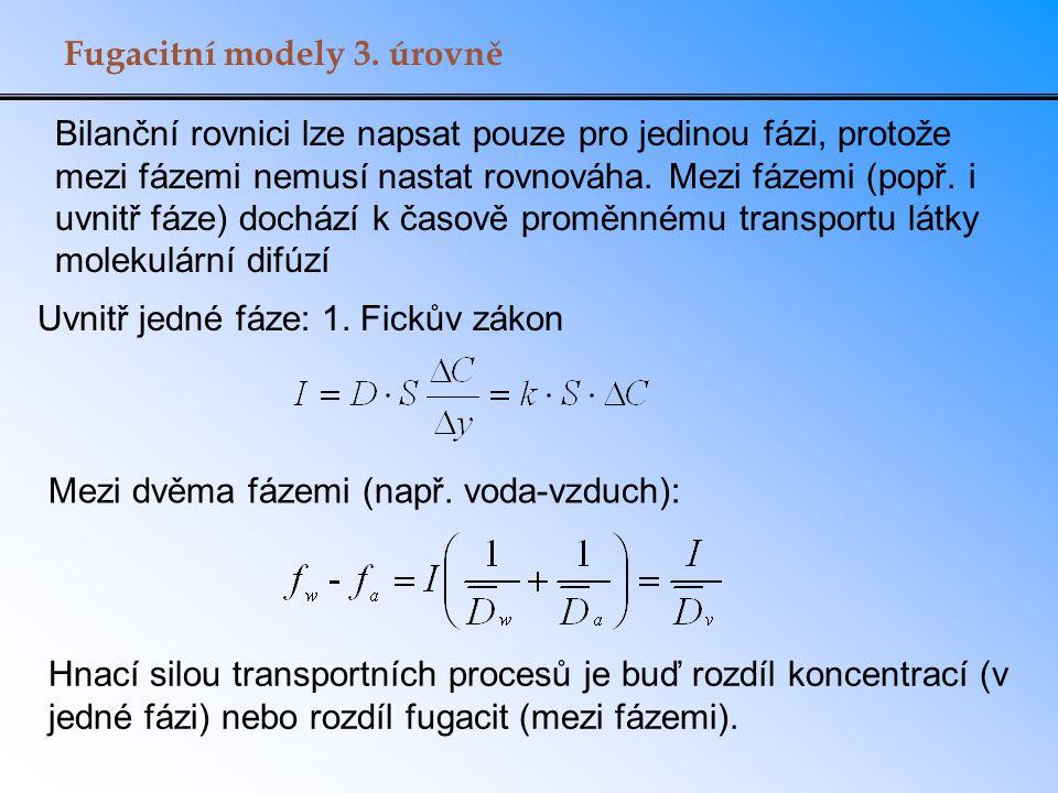 Fugacitní modely 3. úrovně