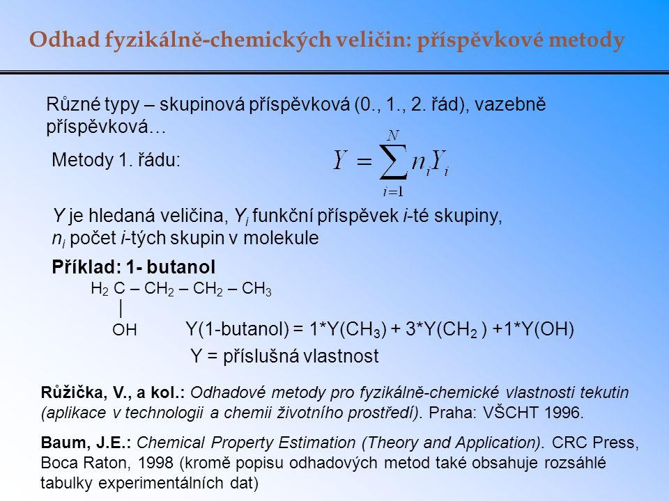 Odhad fyzikálně-chemických veličin: příspěvkové metody