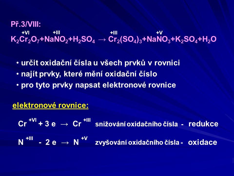 K2Cr2O7+NaNO2+H2SO4 → Cr2(SO4)3+NaNO3+K2SO4+H2O +VI +III +V