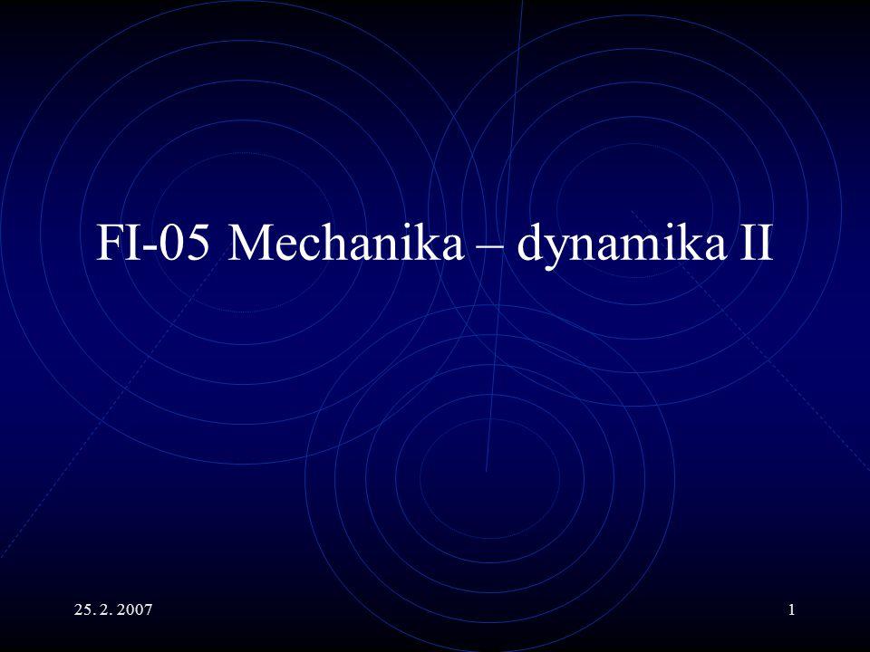 FI-05 Mechanika – dynamika II