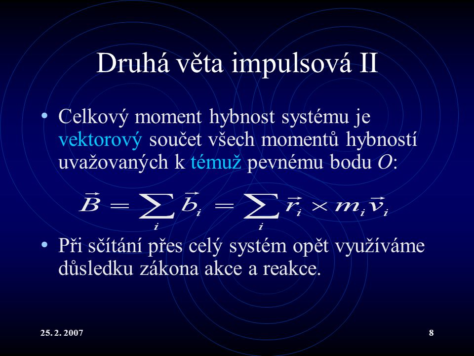 Druhá věta impulsová II