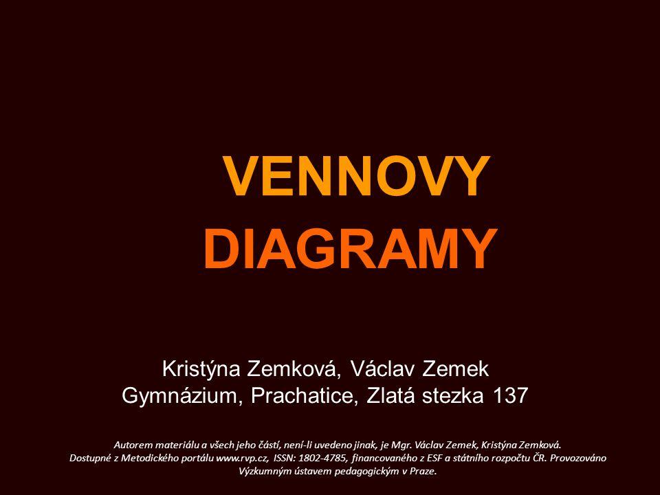 VENNOVY DIAGRAMY Kristýna Zemková, Václav Zemek