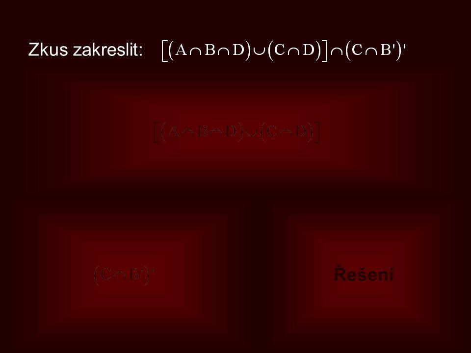 Zkus zakreslit: Výsledek Řešení