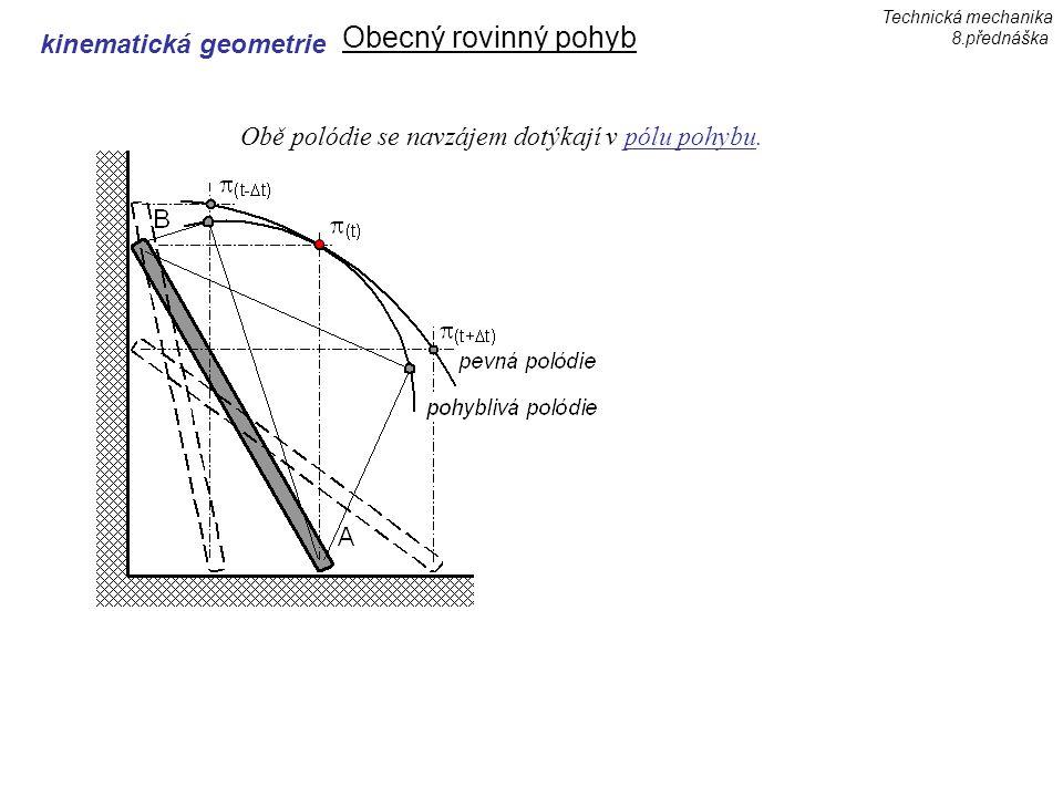 Obecný rovinný pohyb kinematická geometrie
