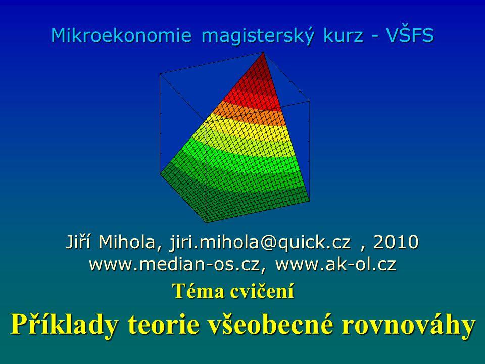 Příklady teorie všeobecné rovnováhy