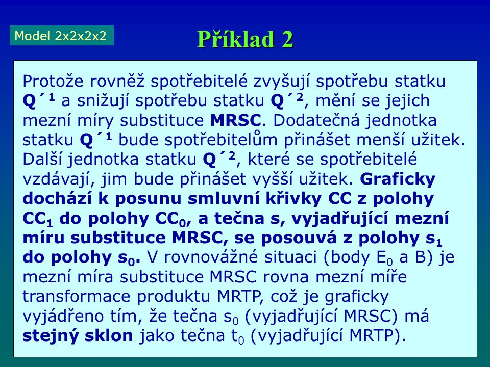 Příklad 2 Model 2x2x2x2.