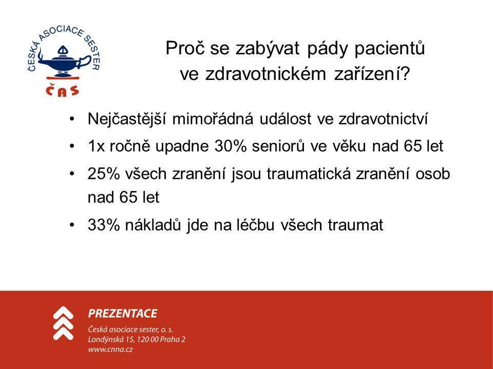 Proč se zabývat pády pacientů ve zdravotnickém zařízení