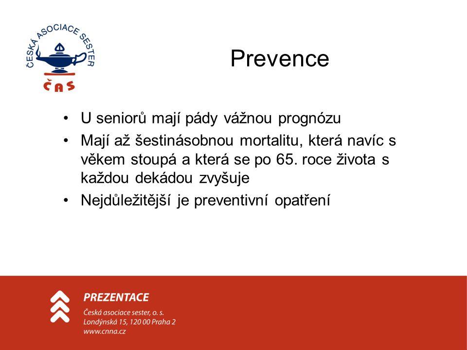 Prevence U seniorů mají pády vážnou prognózu
