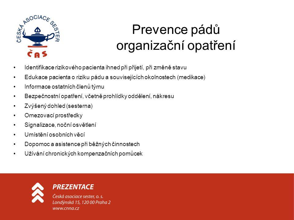 Prevence pádů organizační opatření