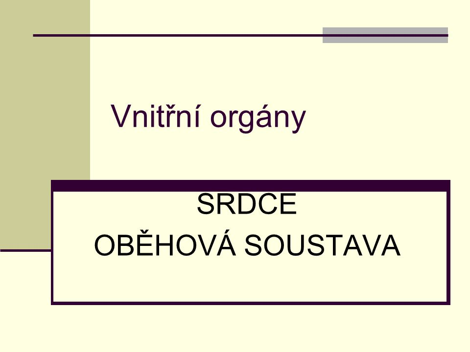 SRDCE OBĚHOVÁ SOUSTAVA