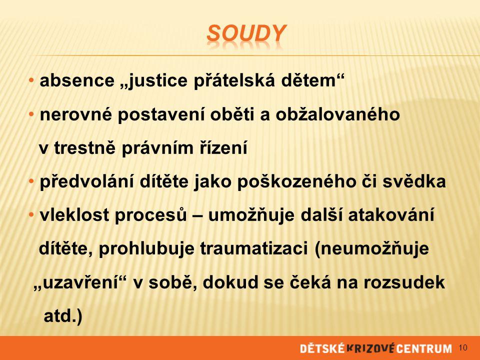"""Soudy absence """"justice přátelská dětem"""