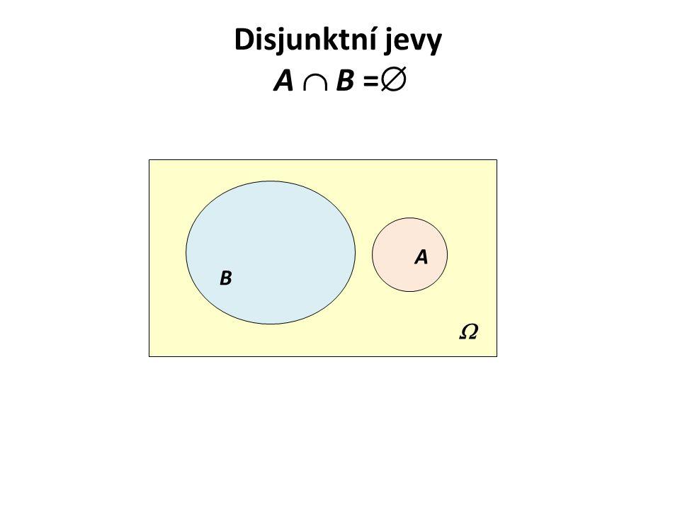 Disjunktní jevy A  B =  B A