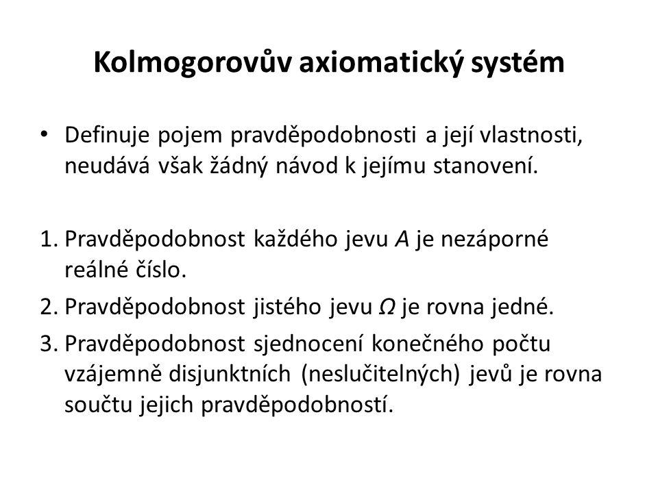 Kolmogorovův axiomatický systém