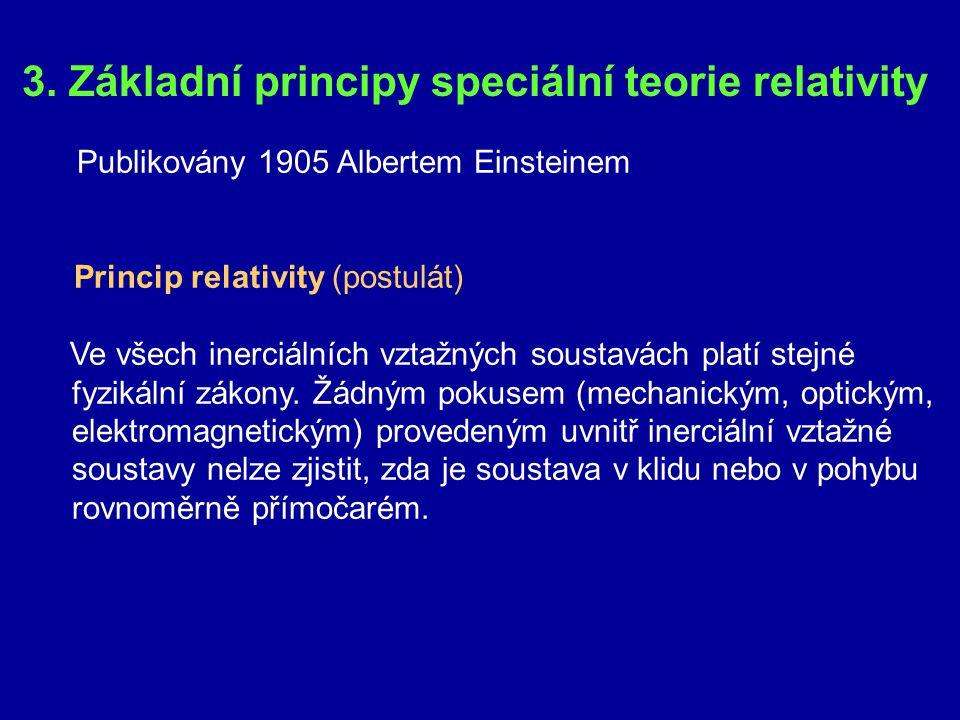 3. Základní principy speciální teorie relativity