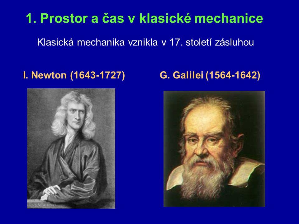 1. Prostor a čas v klasické mechanice