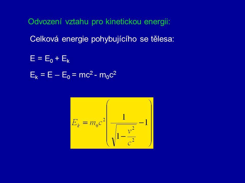 Odvození vztahu pro kinetickou energii: