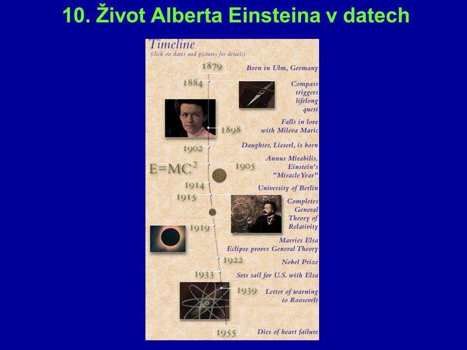 10. Život Alberta Einsteina v datech