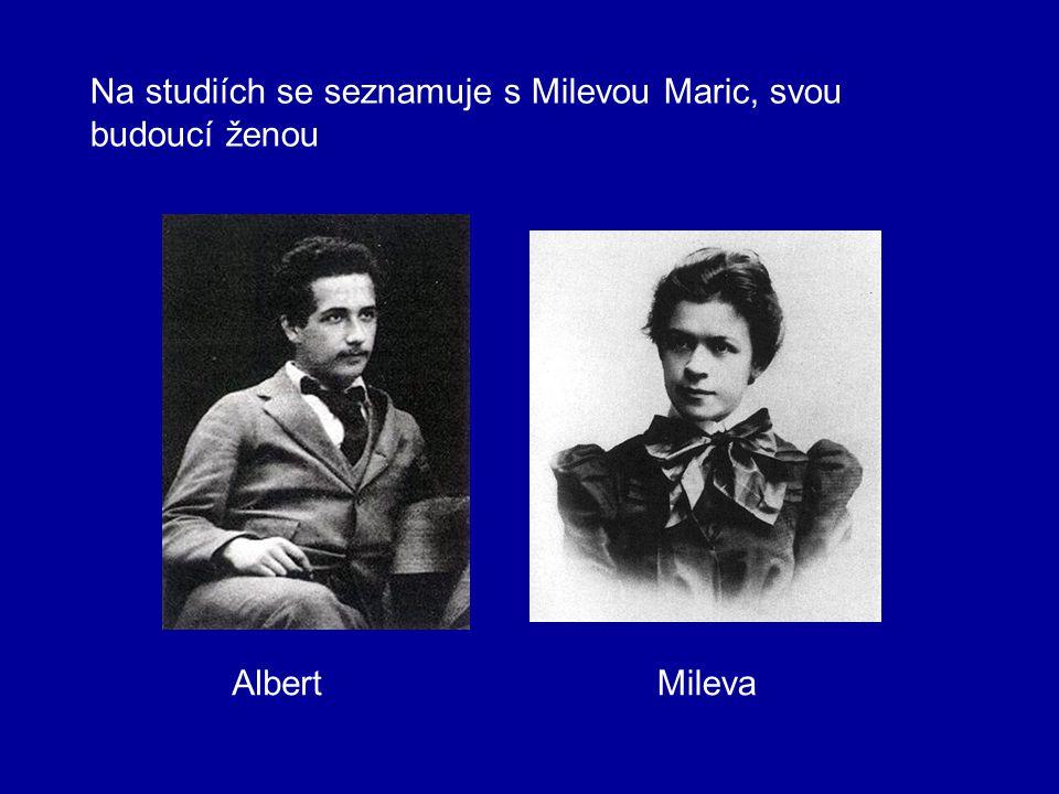 Na studiích se seznamuje s Milevou Maric, svou budoucí ženou